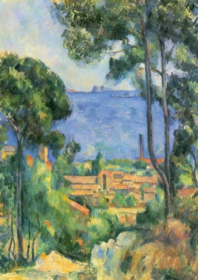 Cezanne, Paul: L'estaque. Landscape/Scenic Fine Art Print/Poster. Sizes: A4/A3/A2/A1 (001028)